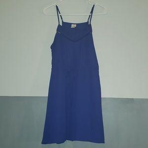 Paper Crane Tie Waist Royal Blue Sundress. S